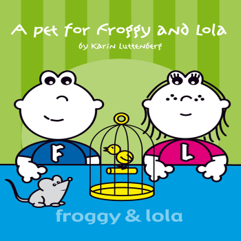 Read kids book A Pet for Froggy and Lola in the Rootz kids reading app. Written by Karin Luttenberg