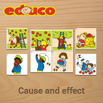 Educational iPad game Cause and effect made by Educo to play in the Rootz reading app