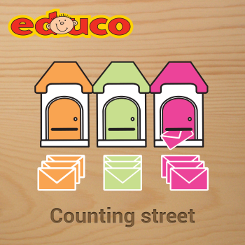 Educational iPad game Counting street made by Educo to play in the Rootz reading app