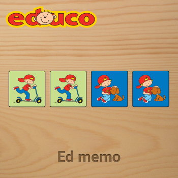 Educational iPad game Ed Memo made by Educo to play in the Rootz reading app