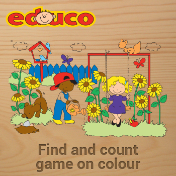 Educational iPad game Find and count game on colour made by Educo to play in the Rootz reading app