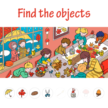 Educational iPad game Find the objects made by Sanne Miltenburg to play in the Rootz reading app