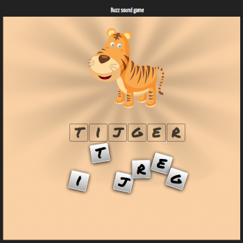 Educational iPad game Letter game made by Rootz to play in the Rootz reading app
