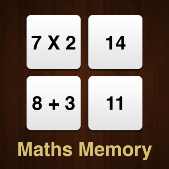 Educational iPad game Maths Memory made by Rootz to play in the Rootz reading app