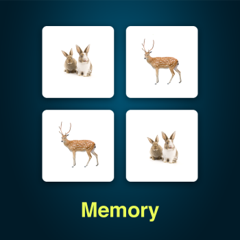 Educational iPad game Memory made by Rootz to play in the Rootz reading app