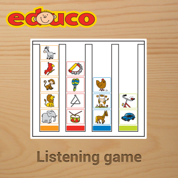 Educational iPad game Sound Lotto made by Educo to play in the Rootz reading app