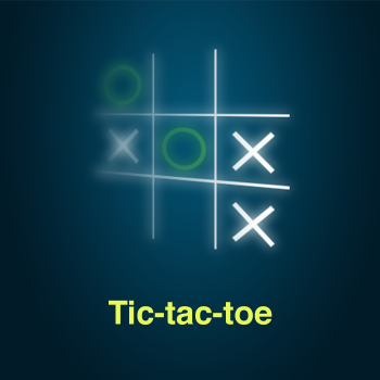 Educational iPad game Tic-tac-toe made by Rootz to play in the Rootz reading app
