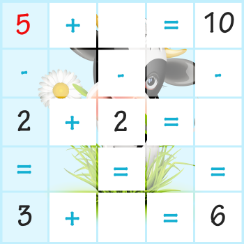 Educational iPad game Maths Crossword Puzzle made by Comming Soon to play in the Rootz reading app