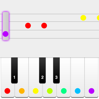 Educational iPad game Piano made by Comming Soon to play in the Rootz reading app