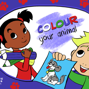 Educational iPad game Color your Animal made by Rootz to play in the Rootz reading app