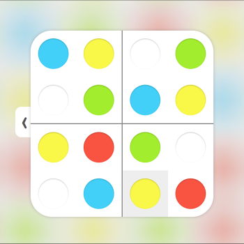 Educational iPad game Sudoku colors made by Rootz to play in the Rootz reading app
