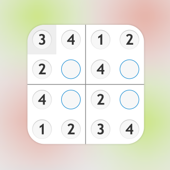 Educational iPad game Sudoku numbers made by Rootz to play in the Rootz reading app