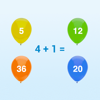 Educational iPad game Practice math made by Rootz to play in the Rootz reading app